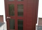 Alu vrata u imitaciji drva