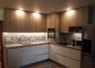 Kaljeno staklo kuhinje sa printom
